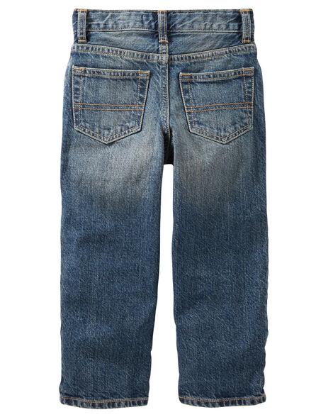 Jeans classique - délavage usé moyen