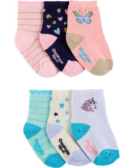 6 paires de chaussettes mi-mollet icônes