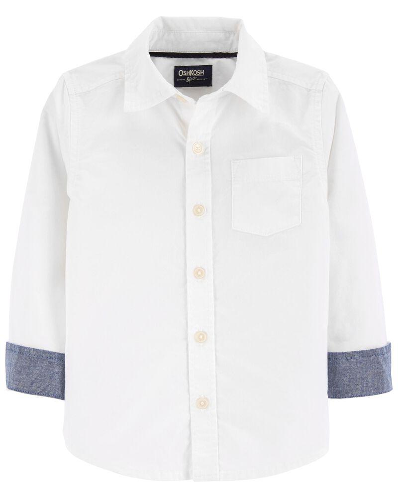 Button-Front Shirt, , hi-res