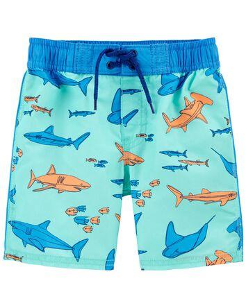 Super Sharky Swim Trunks