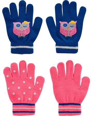 Emballage de 2 paires de gants chou...
