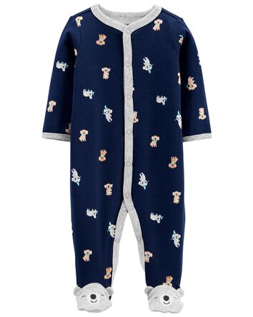 Koala Cotton Snap-Up Sleep & Play