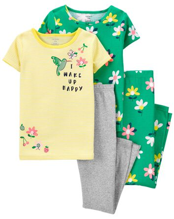 4-Piece Floral 100% Snug Fit Cotton...
