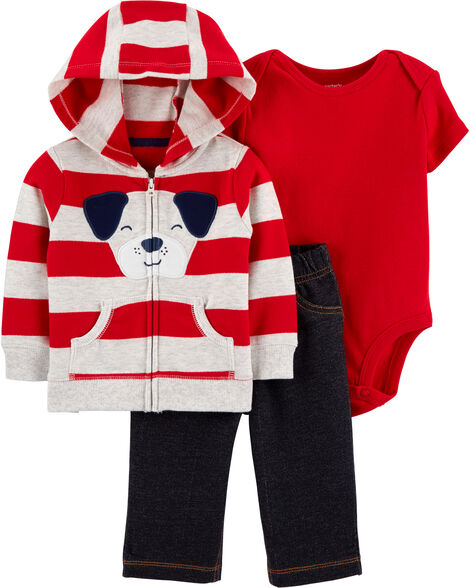 3-Piece Dog Little Jacket Set