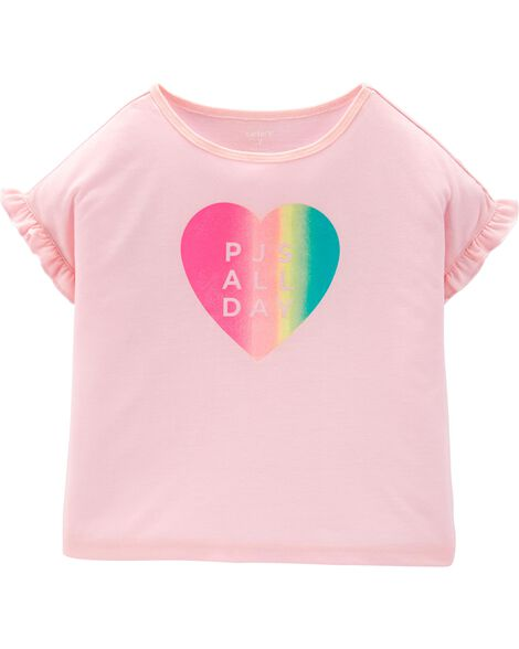 Heart Poly Sleep Tee