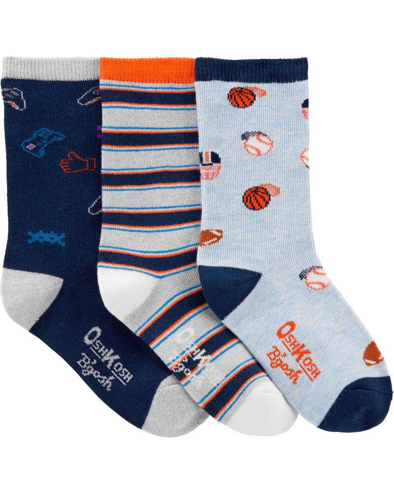 3 paires de chaussettes mi-mollet Let's Play, , hi-res