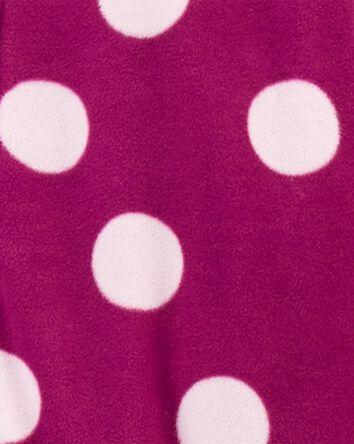 1-Piece Polka Dot Fleece Footie PJs