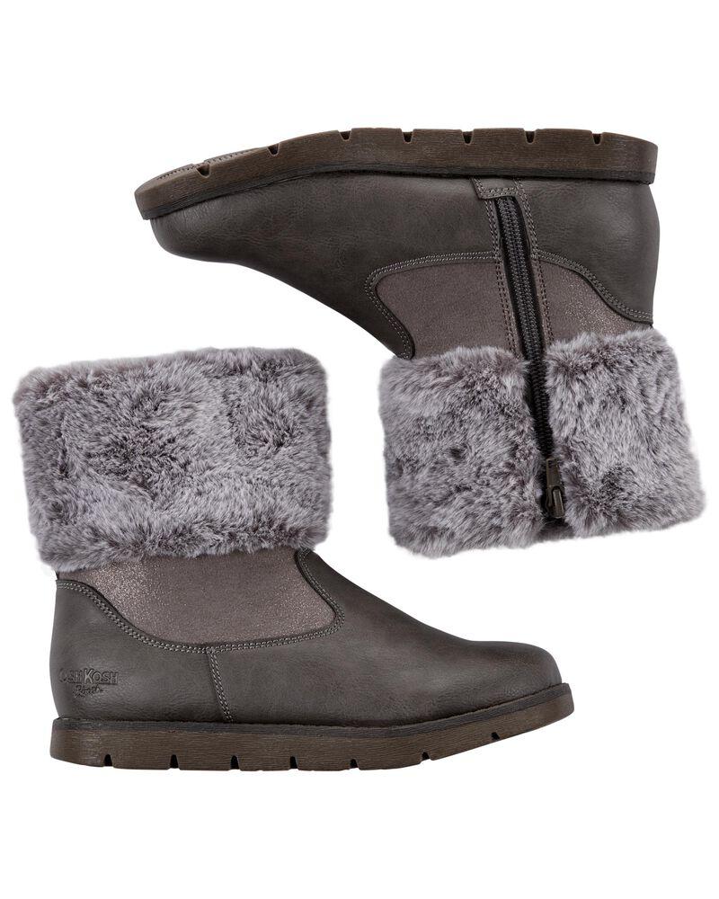 Fur-Trim Boots, , hi-res