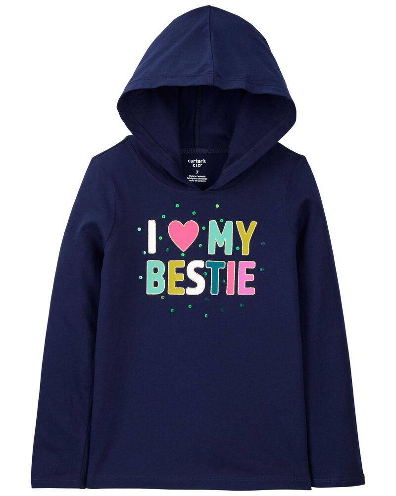 T-shirt en jersey avec capuchon Bestie, , hi-res