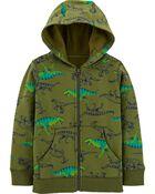 Dinosaur Zip-Up Fleece-Lined, , hi-res