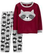 2-Piece Raccoon Fleece PJs, , hi-res
