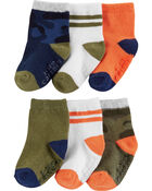 6-Pack Camo & Stripe Crew Socks, , hi-res