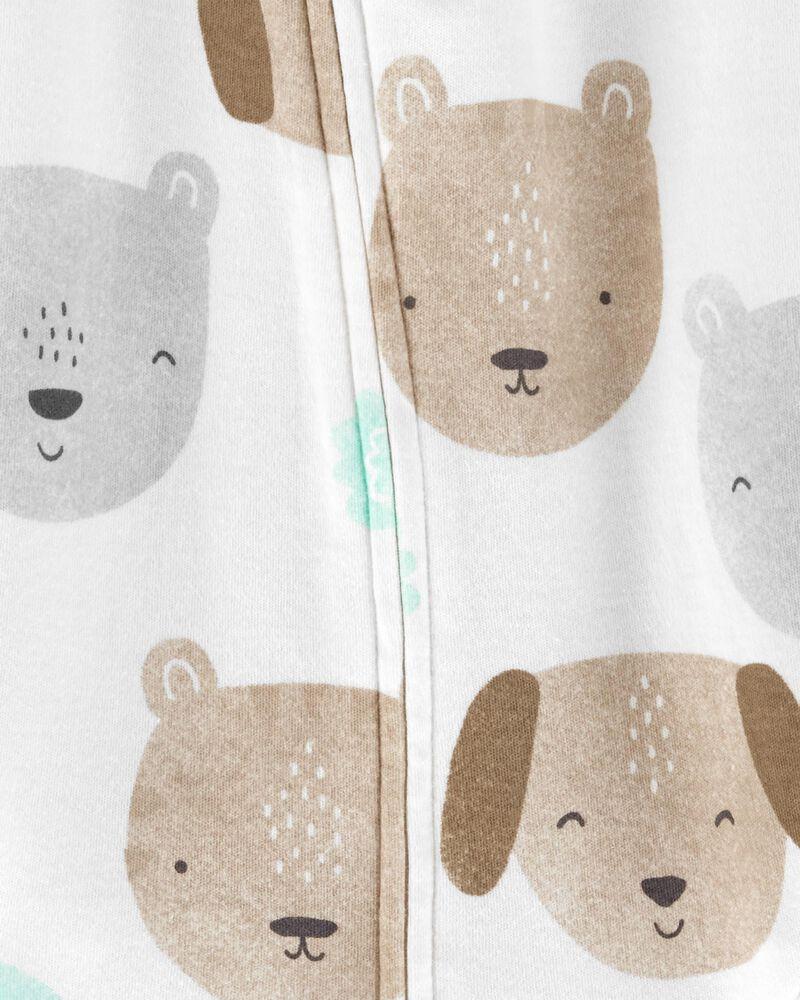 Grenouillère pour dormir et jouer en coton avec glissière 2 sens et koala, , hi-res