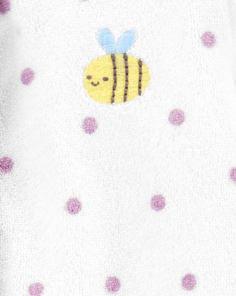 Grenouillère en jersey bouclette à abeille et boutons-pression, , hi-res