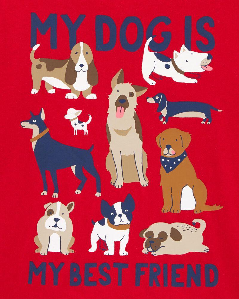 T-shirt en jersey à énoncé My Dog Is My Best Friend , , hi-res