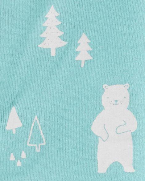 3-Piece Polar Bear Bodysuit & Sleep & Play Set