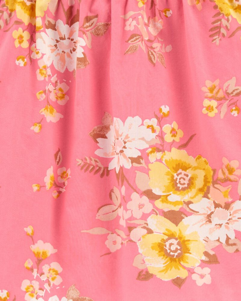 Haut froncé avec fleurs, , hi-res