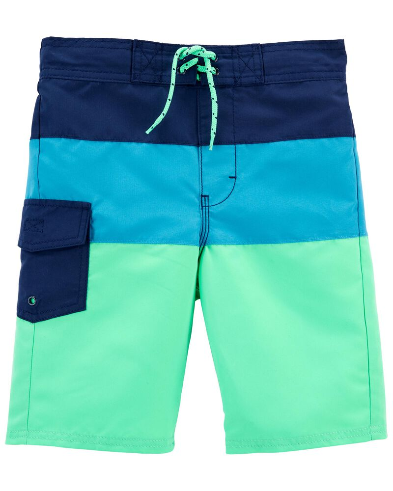 Colourblock Swim Trunks, , hi-res