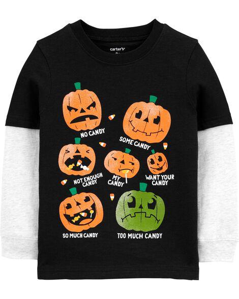 Halloween Layered-Look Jersey Tee