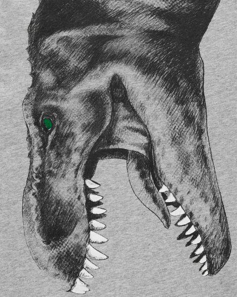 T-shirt à photo réaliste de dinosaure