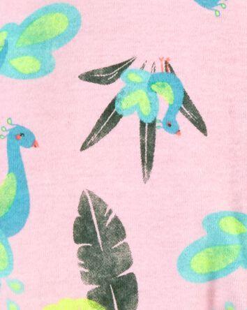 Peacock Zip-Up Cotton Footless Slee...