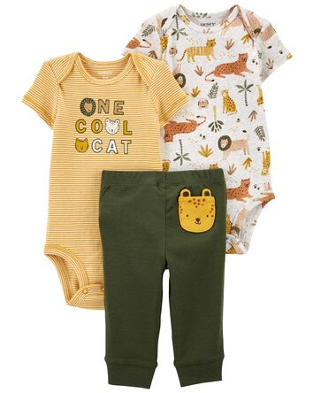 3-Piece Cool Cat Little Character S...