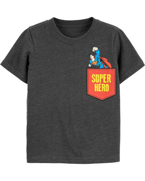 T-shirt à poche Superman