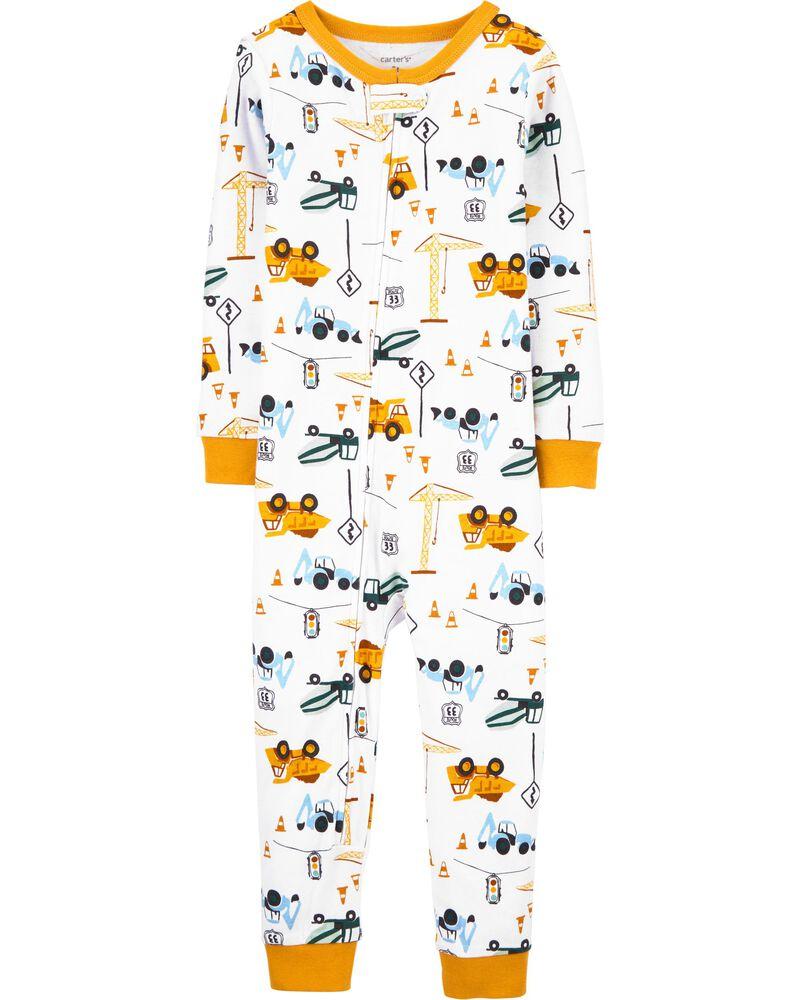 1-Piece Construction 100% Snug Fit Cotton Footless PJs, , hi-res