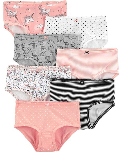 Emballage de 7 sous-vêtements en coton extensible