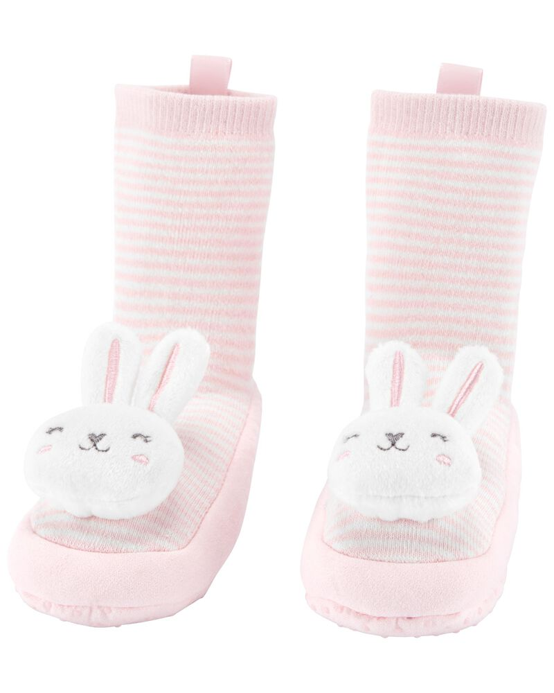 Bunny Slipper Socks, , hi-res