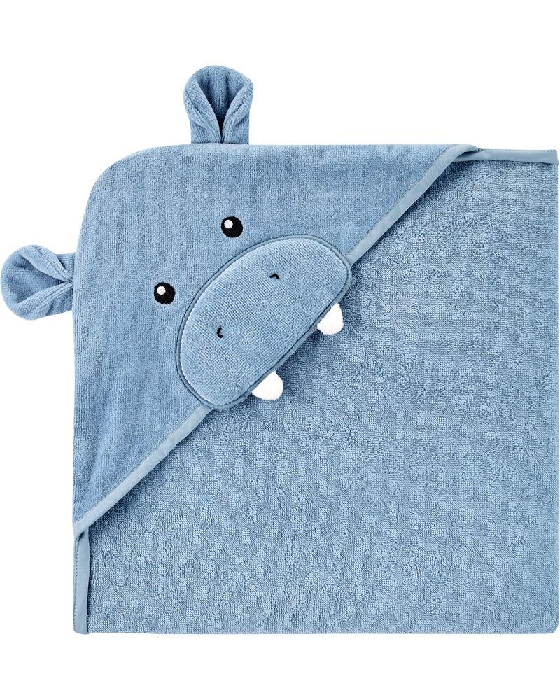 Hippo Hooded Towel, , hi-res
