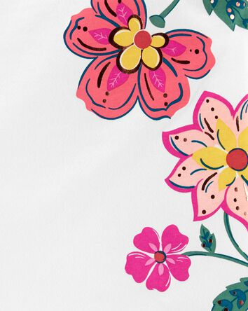 Floral Flutter Jersey Tank