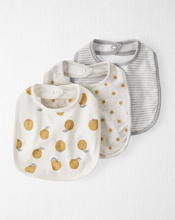 3-Pack Organic Cotton Bibs