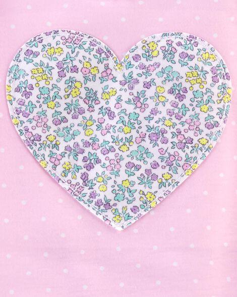Emballage de 2 robes de nuit à cœur fleuri