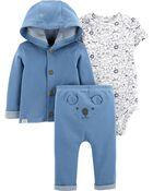 3-Piece Koala Little Cardigan Set, , hi-res