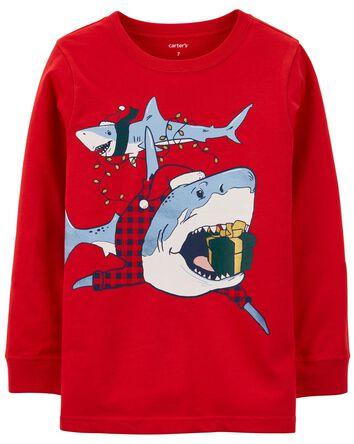 T-shirt en jersey requin des Fêtes