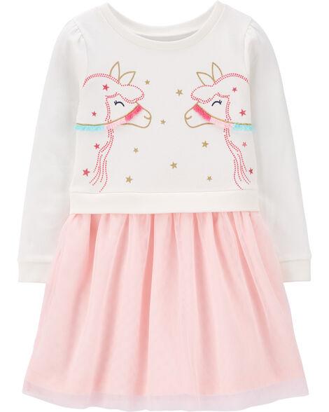 Glitter Llama Tutu Dress