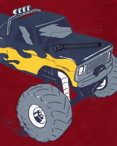 Interactive Monster Truck Layered-Look Slub Tee