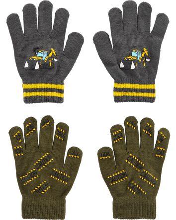2 paires de gants agrippants motif...