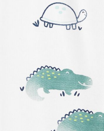 Turtle Snap-Up Cotton Sleep & Play