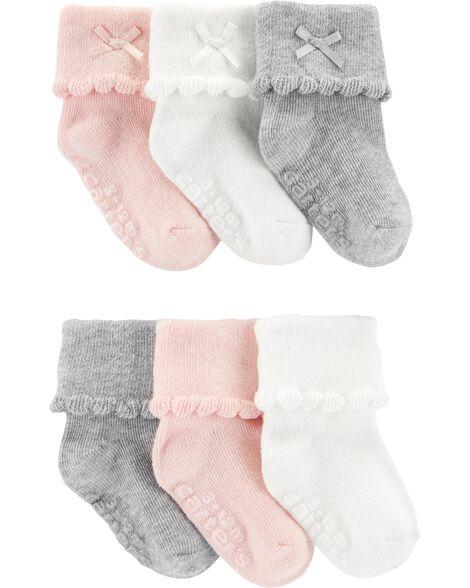 Emballage de 6 paires de chaussons à revers