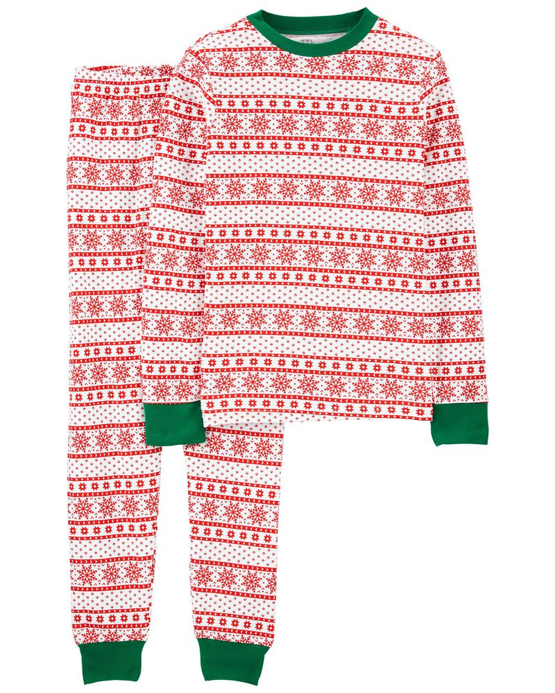 2-Piece Adult Holiday 100% Snug Fit Cotton PJs, , hi-res