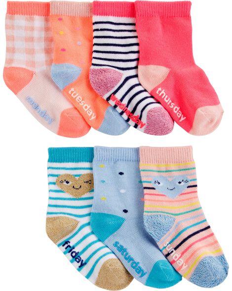 7-Pack Heart Crew Socks