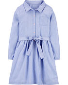 Robe chemisier en chambray, , hi-res