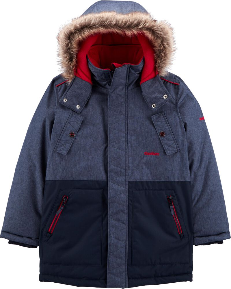 Fleece-Lined Heavyweight Hooded Parka, , hi-res