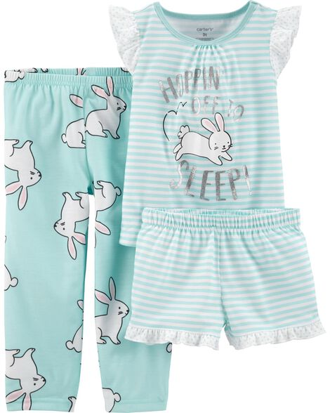 Pyjama 3 pièces en polyester avec lapin