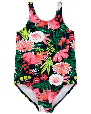 Floral 1-Piece Swimsuit