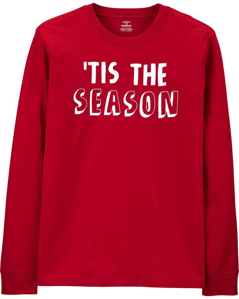'Tis The Season Holiday Jersey Tee, , hi-res