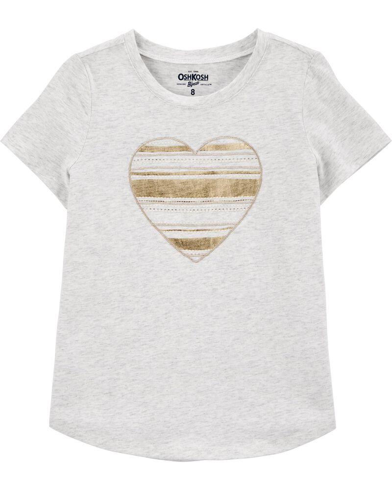 T-shirt à cœurs en paillettes, , hi-res