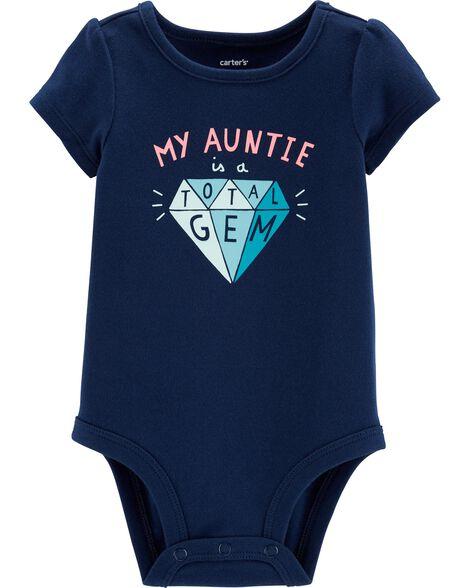 Auntie Is A Gem Collectible Bodysuit